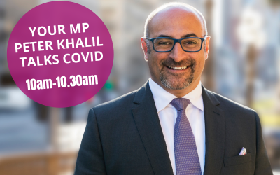 Local MP Peter Khalil talks Covid to Glenroy College families